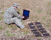 Tactical Solar supporting notebook in field operation